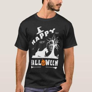 スコットランドテリア犬のハッピーハローウィンの愛犬家私 Tシャツ