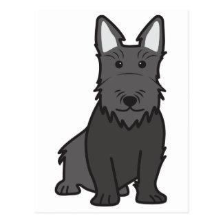 スコットランドテリア犬の漫画 ポストカード