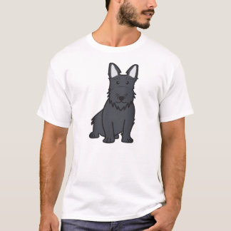 スコットランドテリア犬の漫画 Tシャツ