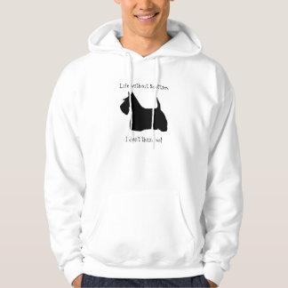 スコットランドテリア犬の黒のシルエットのスエットシャツ パーカ