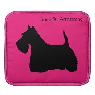 スコットランドテリア犬の黒の名前をカスタムするのipadの袖 iPad スリーブ