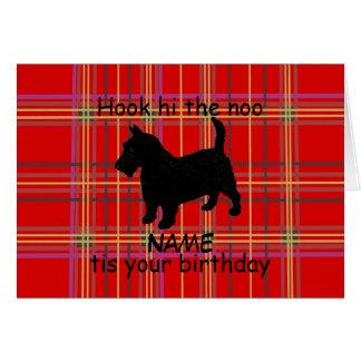 スコットランドテリア犬はカード、スコットの方言をカスタマイズ カード
