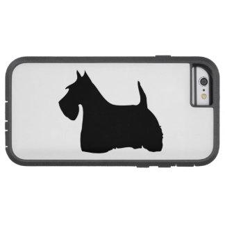 スコットランドテリア犬、スコッチテリアの憂うつのシルエット TOUGH XTREME iPhone 6 ケース