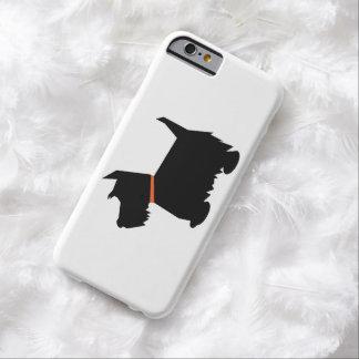 スコットランドテリア犬、スコッチテリア犬の黒のシルエット BARELY THERE iPhone 6 ケース