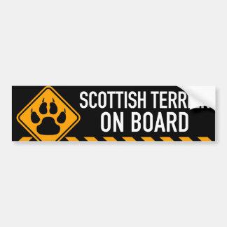 スコットランドテリア船上に バンパーステッカー