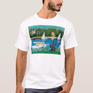 スコットランドテリア12 -ヨット Tシャツ