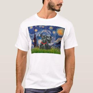 スコットランドテリア12c -星明かりの夜 tシャツ