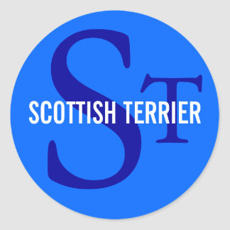 スコットランドテリア(スコッチテリア)のモノグラム ラウンドシール
