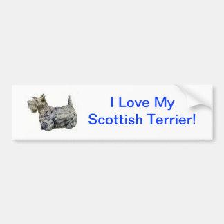 スコットランドテリア バンパーステッカー