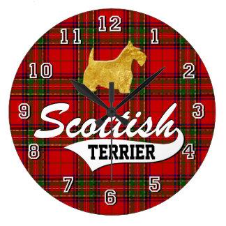 スコットランドテリア ラージ壁時計