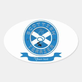 スコットランドテリア 楕円形シール