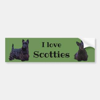 スコットランドテリア、私はスコッチテリア、黒いスコッチテリアを愛します バンパーステッカー