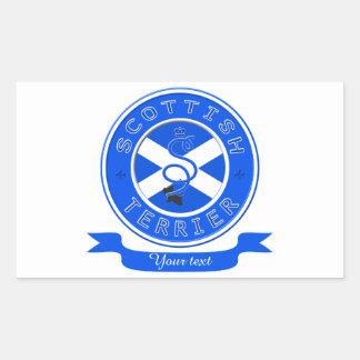 スコットランドテリア 長方形シール