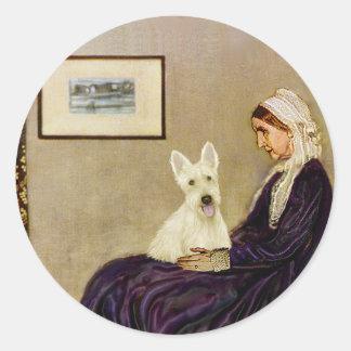 スコットランドテリア(W5) - Whislersの母 ラウンドシール