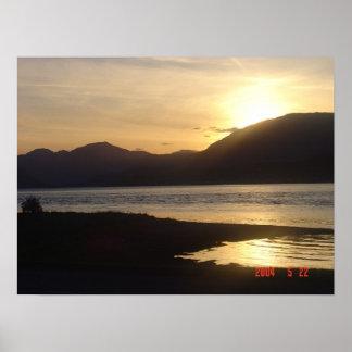 スコットランド上の日没 ポスター