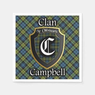 スコットランド人のキャンベルタータンチェックのナプキン スタンダードカクテルナプキン
