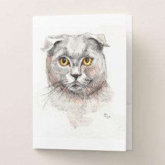 スコットランド人の折目猫 ポケットフォルダー