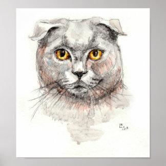 スコットランド人の折目猫 ポスター