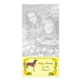 スコットランド人のDeerhoundの1人の友人から別のものへの カード