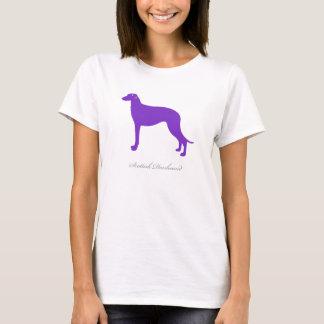 スコットランド人のDeerhoundのTシャツ(紫色のシルエット) Tシャツ
