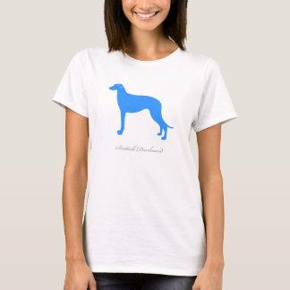 スコットランド人のDeerhoundのTシャツ(青いシルエット) Tシャツ