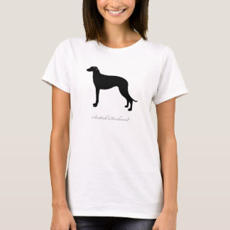 スコットランド人のDeerhoundのTシャツ(黒いシルエット) Tシャツ