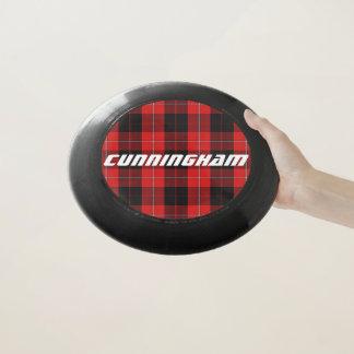 スコットランド人のFuntimeの一族のCunninghamのタータンチェック格子縞 Wham-Oフリスビー