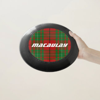 スコットランド人のFuntimeの一族のMacAulayのタータンチェック格子縞 Wham-Oフリスビー