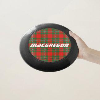 スコットランド人のFuntimeの一族のMacGregorのタータンチェック格子縞 Wham-Oフリスビー