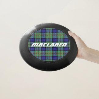 スコットランド人のFuntimeの一族のMacLarenのタータンチェック格子縞 Wham-Oフリスビー