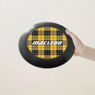 スコットランド人のFuntimeの一族のMacLeodのタータンチェック格子縞 Wham-Oフリスビー