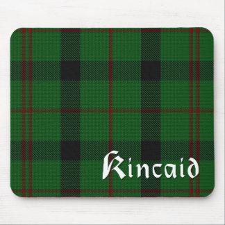 スコットランド人のKincaidの一族のタータンチェック格子縞のマウスパッド マウスパッド