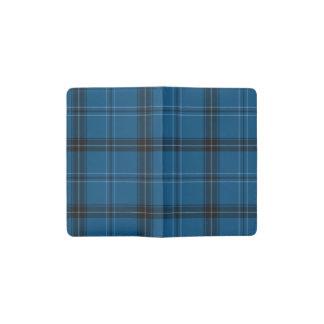 スコットランド人のRamsayの青のタータンチェック ポケットMoleskineノートブック