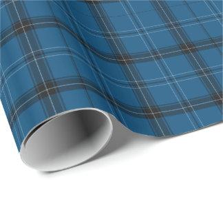 スコットランド人のRamsayの青のタータンチェック ラッピングペーパー