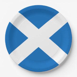 スコットランド人のSaltireのパーティ ペーパープレート