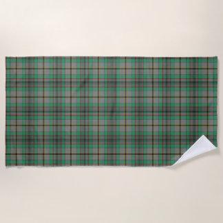 スコットランド人は一族のクレイグのタータンチェックにアクセントを置きます ビーチタオル