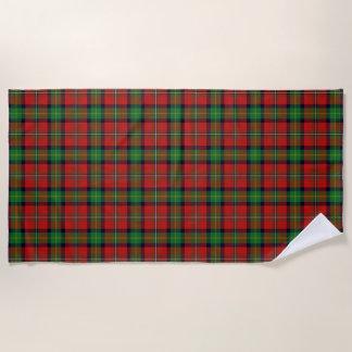 スコットランド人は一族のBoydのタータンチェックにアクセントを置きます ビーチタオル