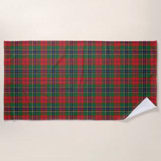 スコットランド人は一族のMacLeanのタータンチェックにアクセントを置きます ビーチタオル