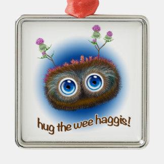 スコットランド人は「警笛音Haggisをはやし立てます メタルオーナメント