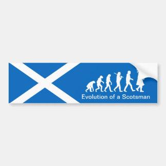スコットランド人車のバンパーステッカーの進化 バンパーステッカー