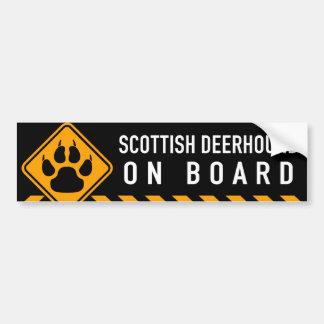 スコットランド人Deerhound船上に バンパーステッカー