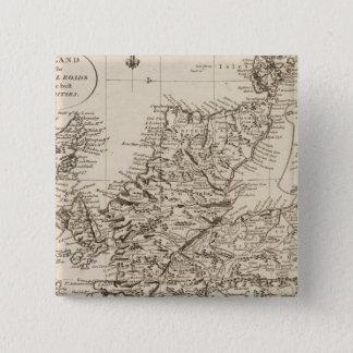 スコットランド10 5.1CM 正方形バッジ
