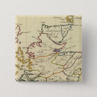 スコットランド11 5.1CM 正方形バッジ