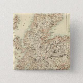 スコットランド13 5.1CM 正方形バッジ