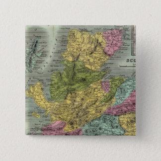 スコットランド14 5.1CM 正方形バッジ