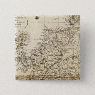スコットランド15 5.1CM 正方形バッジ