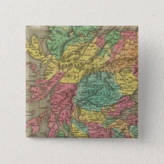 スコットランド18 5.1CM 正方形バッジ