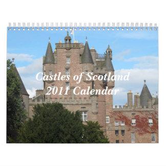 スコットランド2011Calendarの城 カレンダー