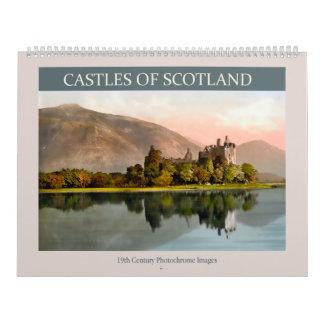 スコットランド2018年の城 カレンダー