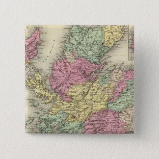 スコットランド6 5.1CM 正方形バッジ